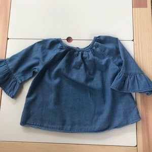 Old Navy chambray bell sleeve top